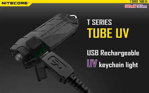 Terbaik Senter Uv 9 Led nitecore uv ultraviolet usb rechargeable keychain