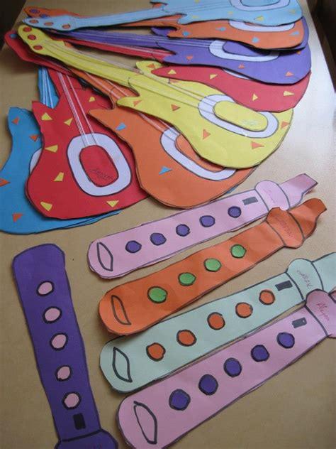 Paper Guitar Craft - paper guitar craft idea for