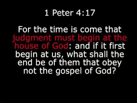Judgment Must Begin At The House Of God 1 Peter 4 17 Youtube