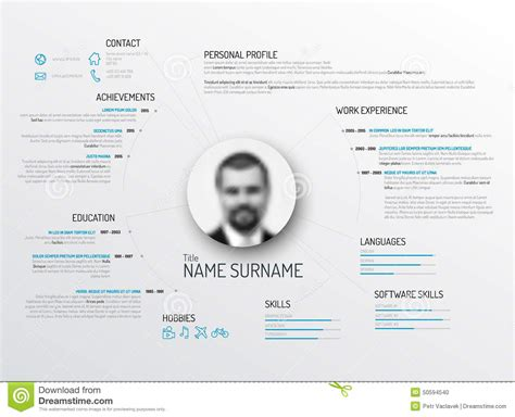 Original Cv Template by Original Cv Resume Template Stock Illustration Image