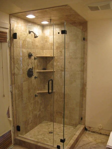 bathroom partitions anaheim frameless corner enclosures