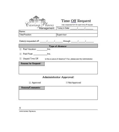 Time Request Template by 40 Effective Time Request Forms Templates