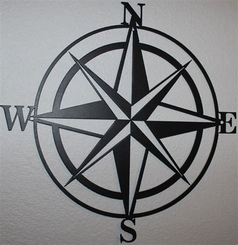 metal home decorating accents 24 quot compass rose silhouette nautical metal wall art home