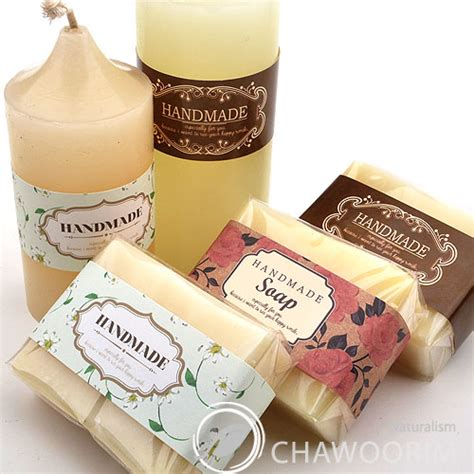 3type handmade deco labels for soap baking candle multi