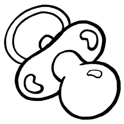 imagenes para colorear baby shower dibujo de un chupete para imprimir y pintar