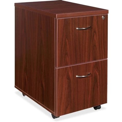 Mahogany Filing Cabinet 2 Drawer by Lorell Essentials 2 Drawer Mobile Filing Cabinet In