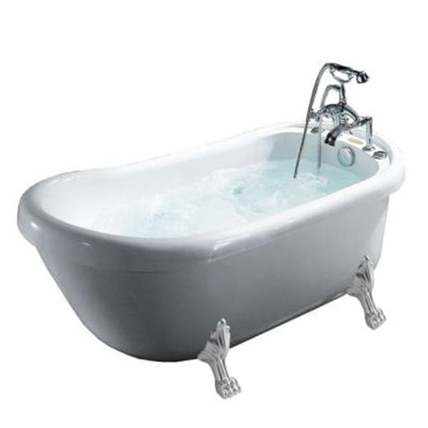 5 ft jacuzzi bathtub ariel 5 1 2 ft whirlpool tub in white bt 062 the home depot