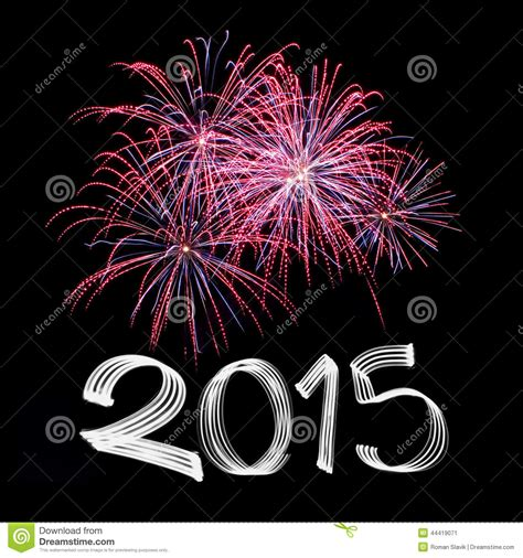 new years fireworks 2015 new year s 2015 with fireworks stock photo image 44419071