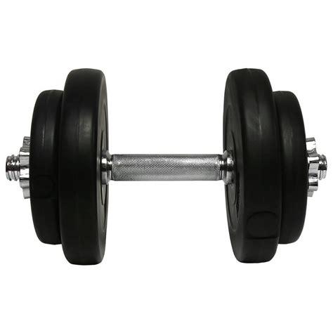 Dumbell Set 20kg charles bentley 20kg cement dumbbell weights buydirect4u