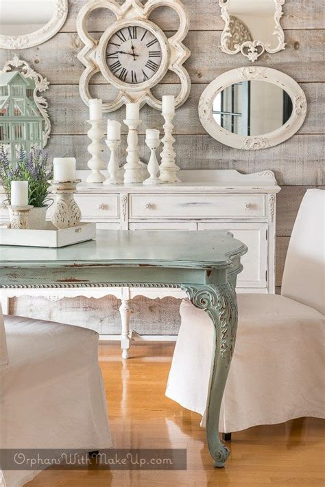 White washed dining room chairs