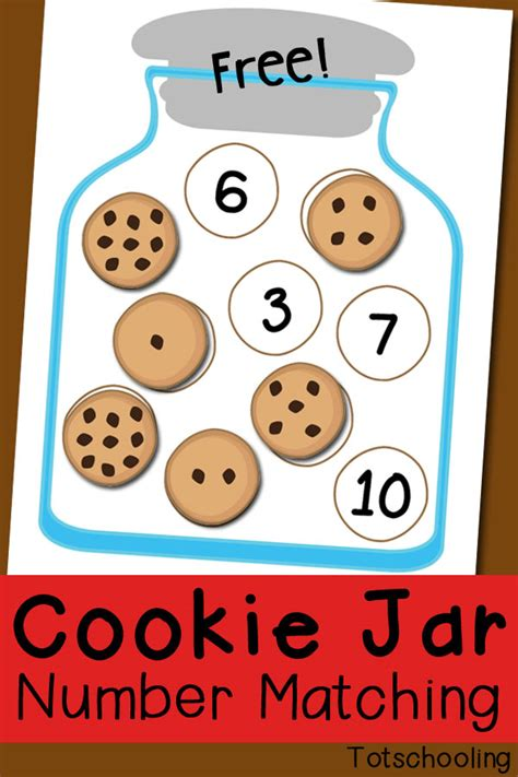 printable numbers matching game cookie jar number matching free printable preschool math