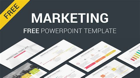 Marketing Free Download Powerpoint Template Slides Slidesalad Youtube Marketing Templates Free