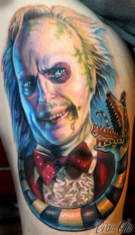 beetlejuice tattoo powerline tattoos evan olin color