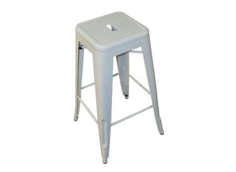 White Stool by Thelounge Industrial White Stool