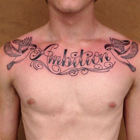 chest word tattoos 66 best images about chest tattoos on quote
