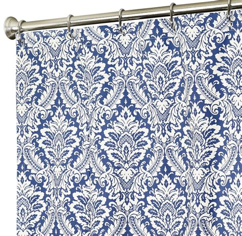 blue fabric shower curtains fabric shower curtains in our fabric or yours