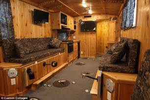 Fishing Cabin Floor Plans by Ice Fishing Is Easy In These Decked Out Campers With Heat