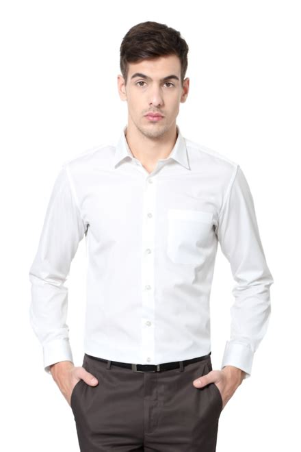 Philippe Louis by Louis Philippe Shirts Louis Philippe White Shirt For