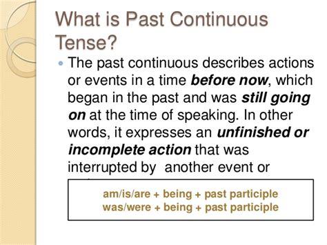 the pattern of past continuous tense past continuous tense active passive voice