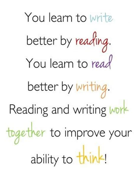 Essay About Reading And Writing by Free Reading Writing Poster To Encourage Students To Develop Literacy Skills Classroom