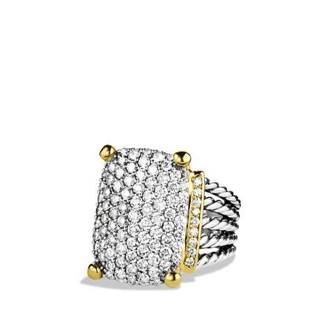 david yurman wheaton ring with diamonds and gold in silver