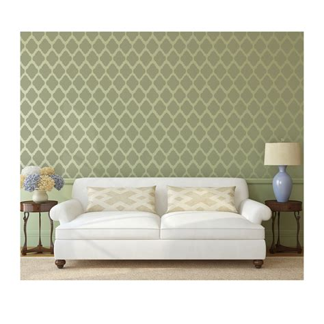 moroccan wall stencil rabat allover trellis stencil for