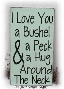 I Love You A Bushel And A Peck Necklace » Home Design 2017