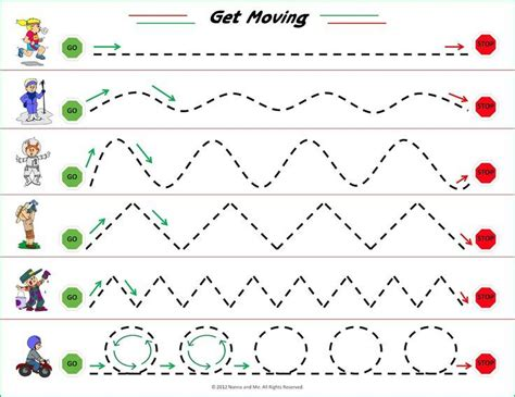 printable tracing lines preschool sheets 20 best images about shapes and lines on pinterest free
