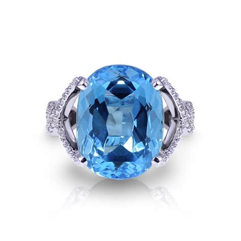 Blue Topaz For large blue topaz ring jewelry designs