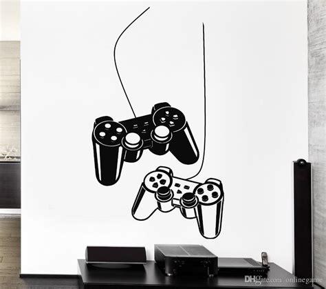 Tokomonster Gamer 4 Wall Decal Sticker Size 23 joystick wall sticker gamer play vinyl decal mural poster home decoration vinyl