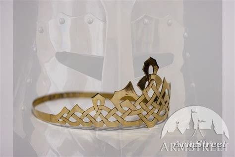 Handmade Crown - handmade brass crown with celtic pattern for sale