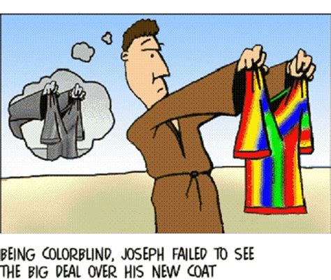 coat of many colors in the bible joseph and is technicolor dreamcoat jokes