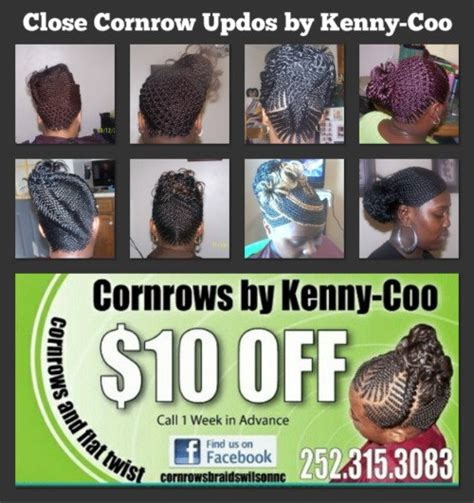 kenny coo braiding double swoop cornrows styles hairstyle gallery