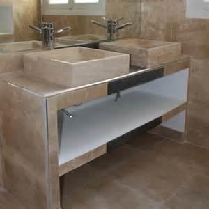 vasque en travertin navona pour salle de bain ekolux