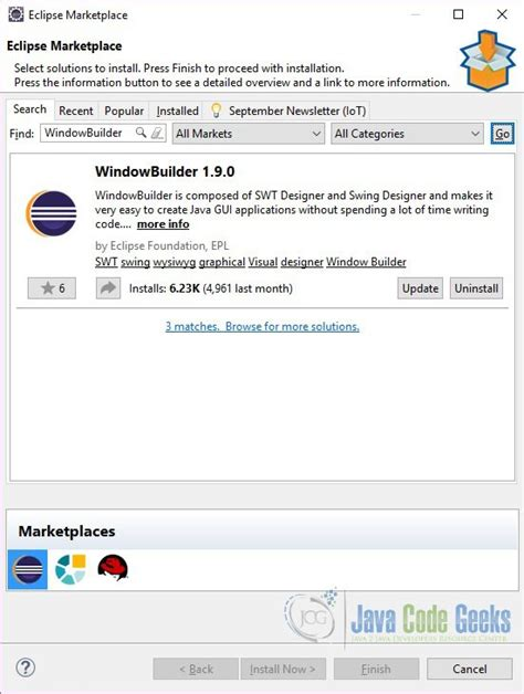 tutorial java windowbuilder java how to view the swt exles eclipse source code