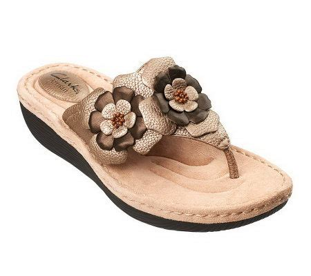 sandals with flowers clarks artisan flower leather sandals page 1