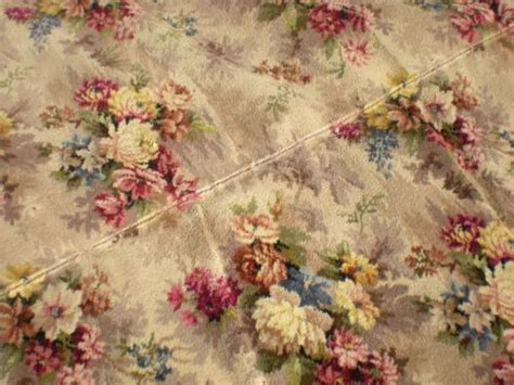 vintage pattern carpet vintage 50s 60s roses floral stair carpet runner rug retro