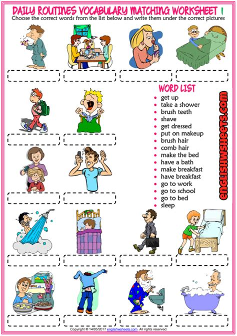 imagenes en ingles weekend resultado de imagen de daily routine worksheet ingles