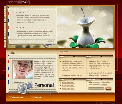 personal profile website templates free personal profile webpage flash audio website