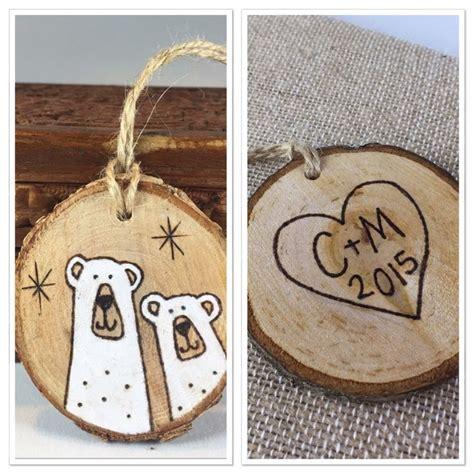 Custom Wood Ornaments - personalized wood slice ornament polar