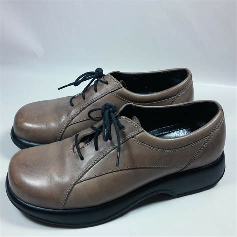 womens dansko brown oxfords leather shoes comfort walking