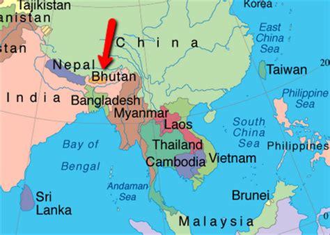 where is bhutan on a world map world map of happiness bhutan