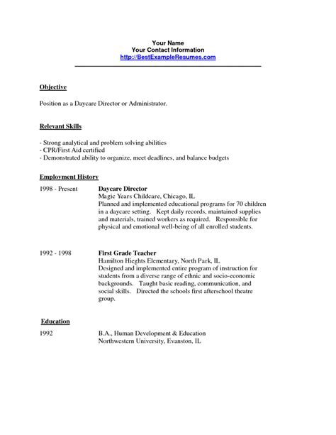 cover letter for resume child care daycare worker resume free excel templates