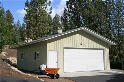 Small Metal Garage by Small Metal 2 Car Garage Steel Garage Buildings