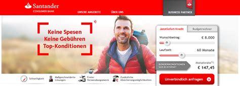 santander bank kredit erfahrung santander kredit kredit 214 sterreich