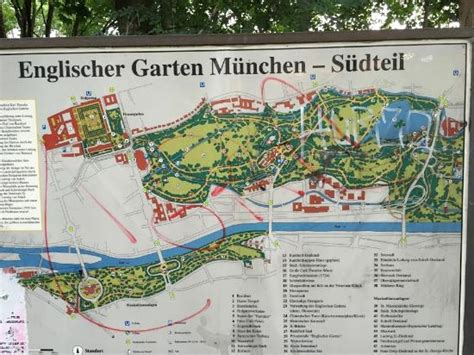 Englischer Garten Munich Map by Garden Map Picture Of Garden Munich