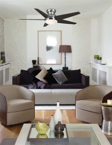 Ceiling Fan In Living Room Isotope Ceiling Fan From Casablanca Fan Co Modern Living Room By 1800lighting