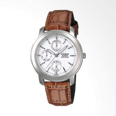 Jam Tangan Pasangan Casio Standard Mtp 1215a 7a Ltp Diskon jual casio standard leather jam tangan pria brown mtp 1192e 7a harga kualitas
