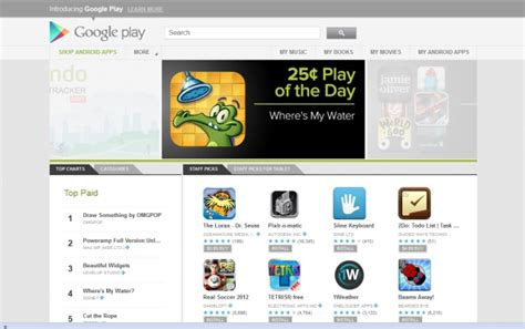 brings android ui to the play store on the web
