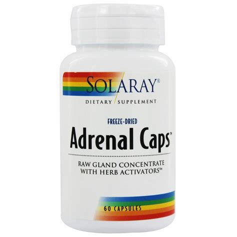 Adrenal Detox Supplements by Solaray Adrenal 60 Capsules Evitamins